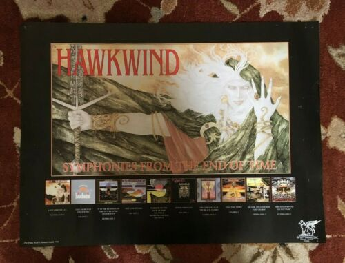 HAWKWIND  very rare original promotional poster from 1990