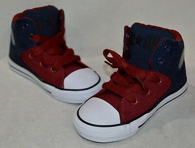 Converse Toddler Boys' CT All Star High Street Obsidian/Red Shoes-Sz - Boys Red Converse Shoes