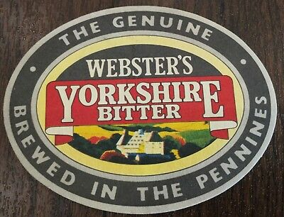 Yorkshire Bitter - Websters Yorkshire Bitter Oval Beer Mat