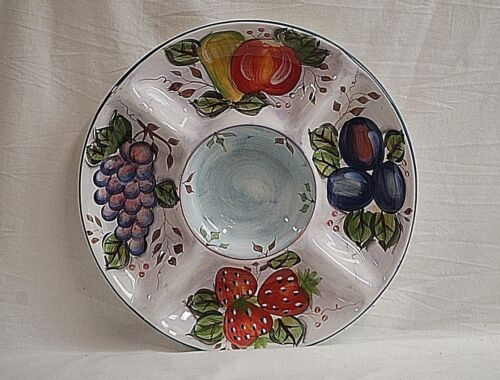 Classic 1 Piece Chip & Dip in Black Forest Fruits by Heritage Mint Serving Tray