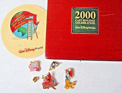 LOT 5 DISNEY cast holiday celebration PINS 2000 new in box set