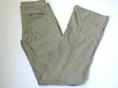 prAna Womens Monarch Convertible Pant Shorts Dark Khaki Nylon Pockets Sz 2 Long Prana-womens Convertible Pant