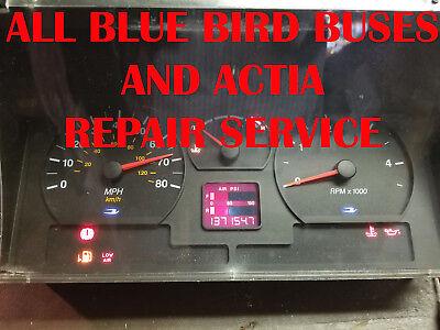 BLUE BIRD BUS INSTRUMENT CLUSTER SOFTWARE & ODOMETER CALIBRATION SERVICE