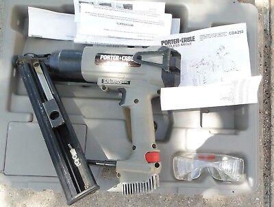 Porter Cable Bammer Fuel Cell Angle Nail Gun Power Tool Model Cda250 Gray Used