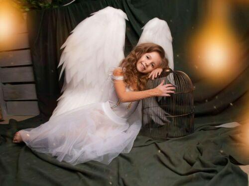 Angel wings costume sexy cosplay  white angel,bird  wings cosplay, baby wings