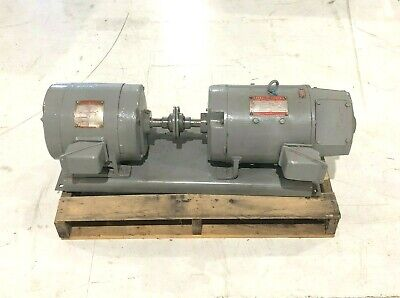 Ge Triclad 5hp Electric Motor Kinamatic Direct Current Generator 3kw 125v 24a