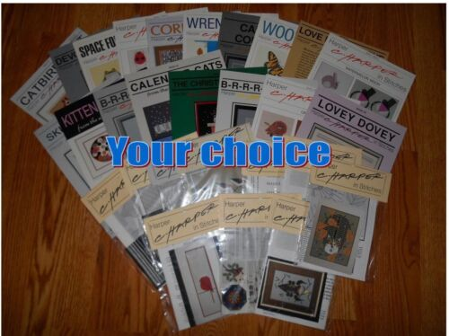 CHARLEY HARPER IN STITCHES counted cross stitch charts -YOUR CHOICE-new & unused