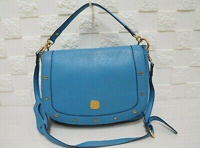 100% Authentic MCM Visetos Blue Handbag / Shoulder Bag