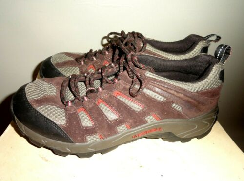 Merrell Youth Size US 6 EU 37 Moab Ventilator Mid Espresso Hiking Sneaker Boots