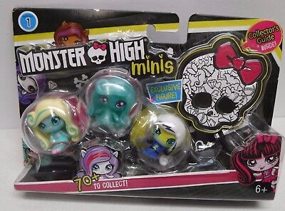 Monster High Minis Toy Figure 3 Pack NEW