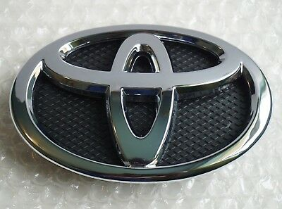 Toyota Yaris SEDAN Grille Emblem 2007 - 2016 Black Chrome Grill Hood 75301-52080