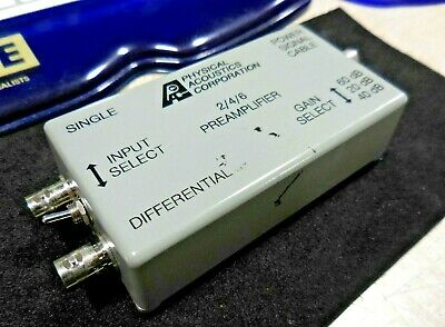 Physical Acoustics 246 Differential Preamplifier 20-60db 28 Vdc 0.2a 1