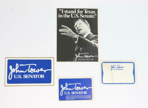 John Tower U.S Senator Senate Political Campaign Brochure Elections Sticker