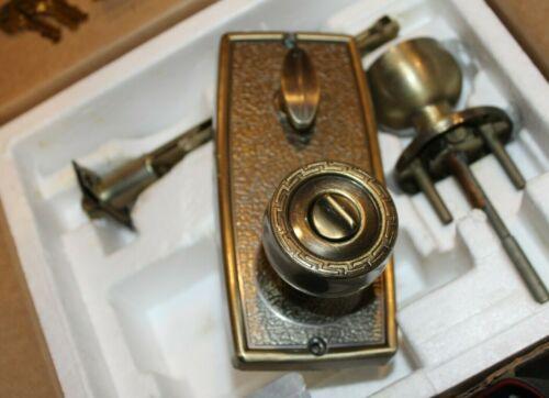 Vintage Kwikset GRECIAN US 5  #640 Protecto-Lok Double Security Lockset  70's