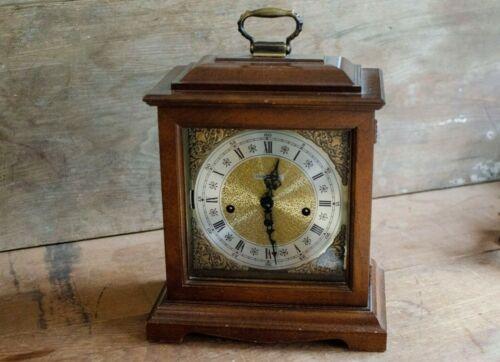 Vintage Howard Miller Mantle Clock Key Wind Hermle 340-020A Mov