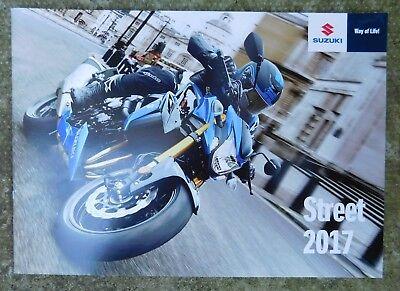 Suzuki Street Brochure 2017 inc GSX-S1000/Z GSXS750/Z SV650  GSXS125 VanVan