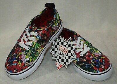 y's Authentic Marvel Multicolor Skate Shoes-Asst Sizes NWB (Vans Toddler Boy Schuhe)