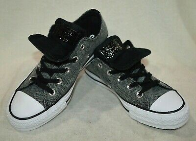 Converse CT All Star Double Tongue OX Black/White Women's Sneaker - Size 6 NWB Double Tongue Ox Shoes