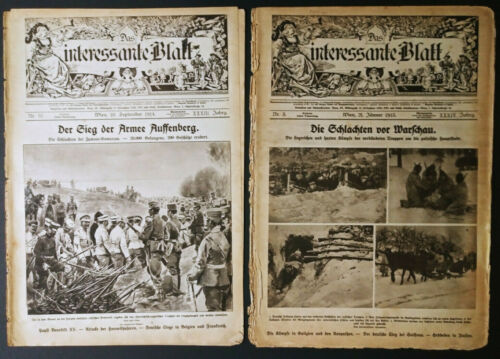 TWO GERMANY VINTAGE illustrated MAGAZINE 1914-15s WWl 120823