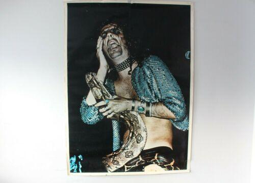 EXTRA LARGE ALICE COOPER 1973 LARGE 42X58 ORIGINAL POSTER WITH SNAKE DARK ROCK