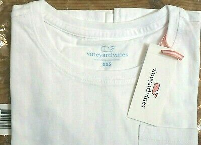 - NEW Vineyard Vines Women's White Pocket Tee Long sleeve shirt Size Small