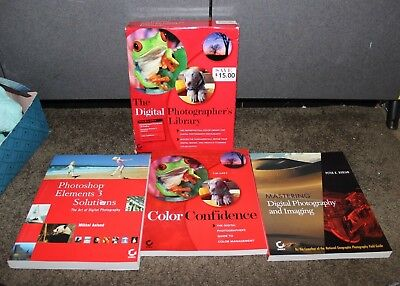 Digital Photography Imaging Photo Shop Boxed book lot w Disk Retails $99.00