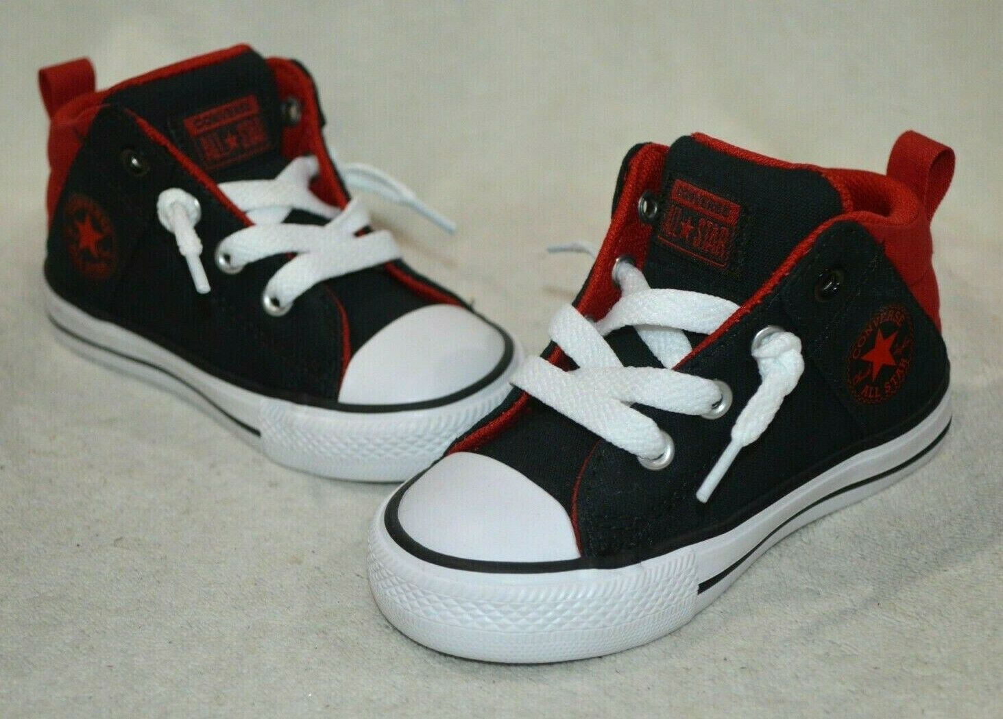 Converse Toddler Boy's CT All Star Axel Mid Top Black/E-Red Sneakers-Asst Sz NWB