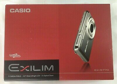 NEW  Casio EXILIM CARD EX-S770 7.2MP Digital Camera - Silver Casio Exilim Card