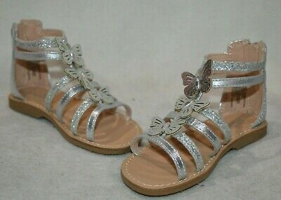 Gladiator Sandals For Toddlers (Jumping Beans Toddlers Girl's Sherbert Silver Gladiator Sandals-Asst Sizes)