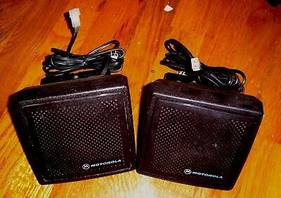 Lot Of 2 Motorola Astro Spectra Syntor Mobile Radio Speaker
