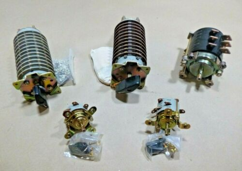 (5 Assorted) Electro Switch Mil-Spec Rotary Switches - 5930 Commodity Code