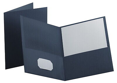 Oxford Folder 8-12 X 11 Inches 2-pocket Dark Blue Pack Of 25
