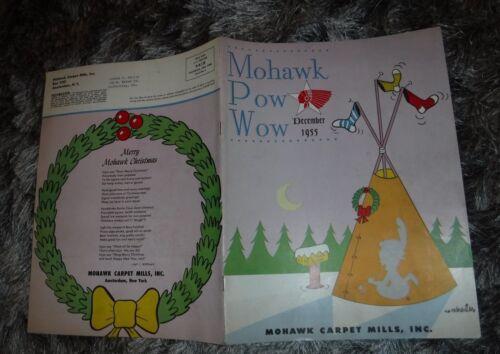 MOHAWK CARPET MILLS POW WOW MAGAZINE 1955 VINTAGE SKAFF RUG FLINT MI & NEW HAMP
