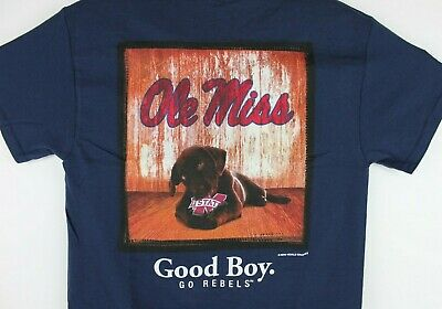 Ole Miss Rebels Dog T-Shirt Good Boy Mans Best Friend Tee Color