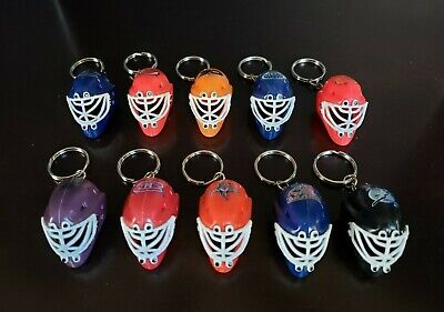 NHL MINI HOCKEY GOALIE MASK TEAM KEY CHAIN - YOU CHOOSE TEAM - VINTAGE LOGOS - Mini Hockey Goalie Mask