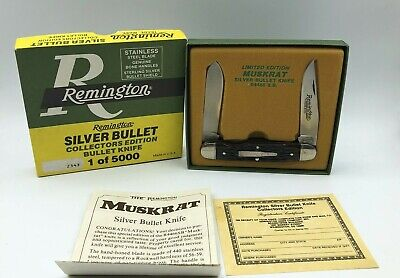 Vintage Remington Muskrat Silver Bullet R4466 SB Collectors Knife 1 of 5000