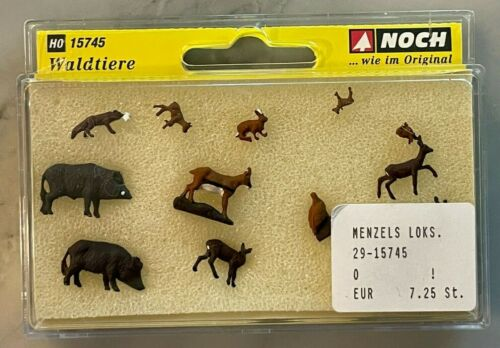 NOCH HO Scale #15745 Forest Animals Figure Set
