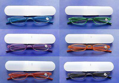 LESEBRILLE 1.00 bis 3.50 Diop. mit ETUI Lesehilfe Sehhilfe Brille 6 Farben 05