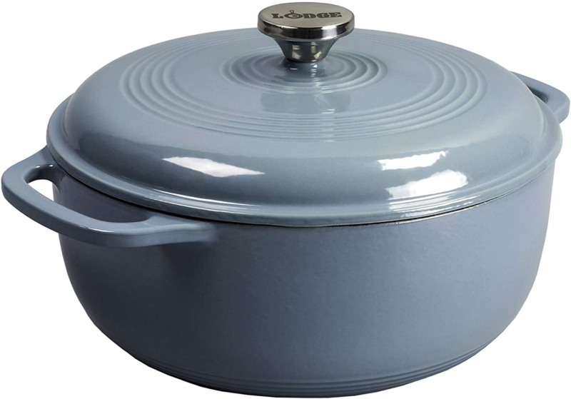 enameled dutch oven 6 qt storm blue