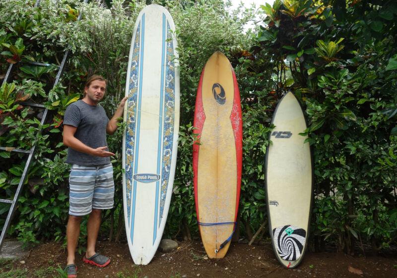 Von links nach rechts: Longboard, Funboard für Anfänger und Shortboard für Fortgeschrittene.