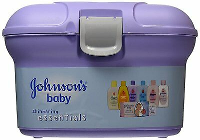 Johnsons Baby Essential oil, Shampoo Lotion Powder & Safety Swabs Gift Set Kit
