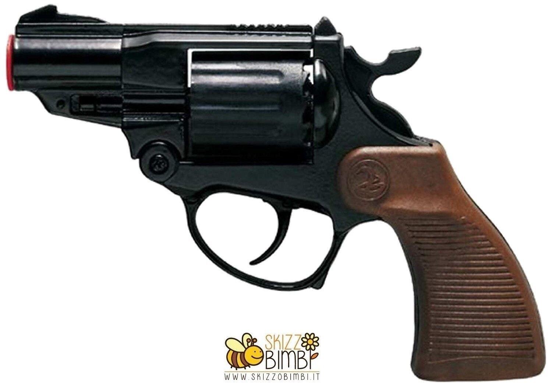 Pistola Giocattolo in Metallo a 12 Colpi 125 dB Falcon Black