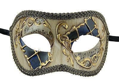Mask from Venice Colombine Black Blue Golden Costume-Ball Masquerade - 1928 -V50