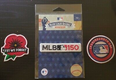 MLB Lest We Forget Patch +150th + Independence Day 2019 baseball jersey patch (Day Baseball Jersey)