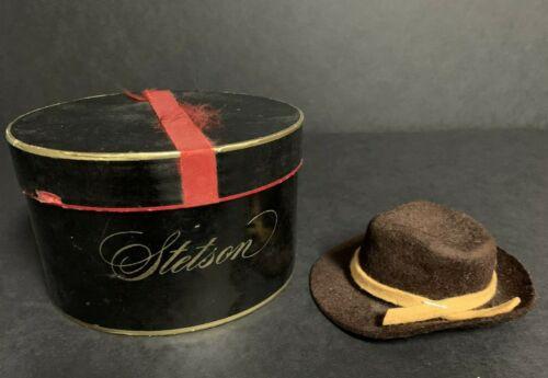 Vintage Stetson Salesman Sample Brown Felt Fedora Hat w/Original Box~Miniature