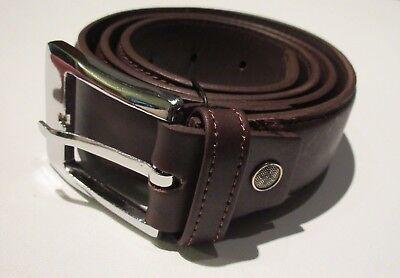 """Brown Leather money belt """"Mule belt"""" 1 1 /2 inch width"""