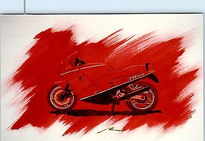 MOTORCYLE ART by Dave Marr Anderson  c1980s   750 PASO  Postcard