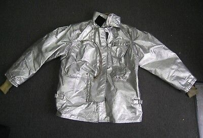 Janesville Lion Firefighter Proximity Jacket Size 44 X 32 R Aluminized Turn Out