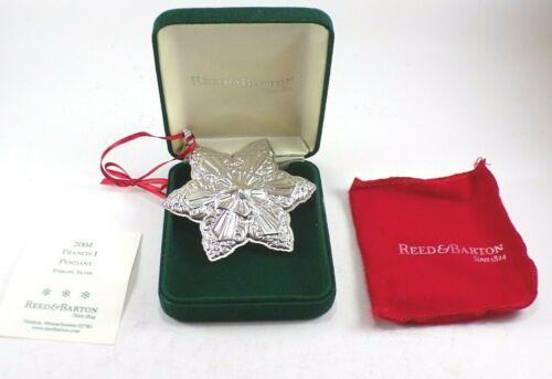 Reed & Barton 2004 Francis 1 Sterling Silver Snowflake Christmas Ornament 7th ed