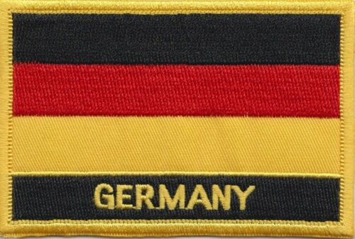 Germany Federal Flag Embroidered Patch - Sew or Iron on